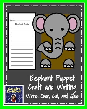 Elephant Craft: Puppet (Zoo, Summer, Animal Research)