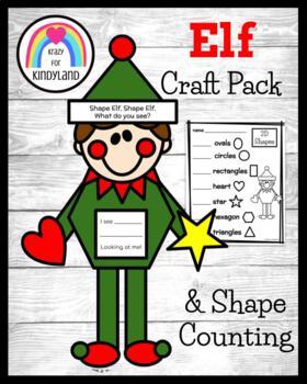 Flash Freebie! Elf Shape Craft (Christmas, Holidays)