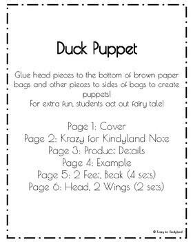 Fairy Tale Craft Pack: Puppets (Red Hen,Billy Goats Gruff,Goldilocks,3 Pigs)