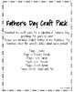Father's Day Craft Pack: Donut, Popsicle, Apron, Tie