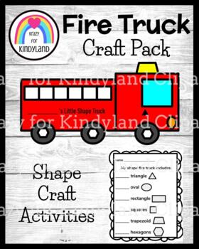 Fire Truck Shape Craft (Fire Safety, Autumn)