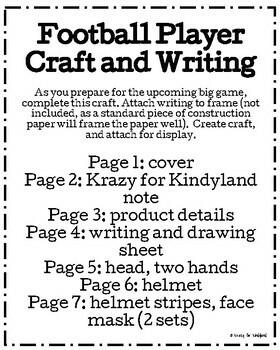 Football Player Craft and Writing (Homecoming, Super Bowl)