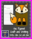 Fox Craft for Kindergarten: Puppet (Zoo, Summer, Animal Research)