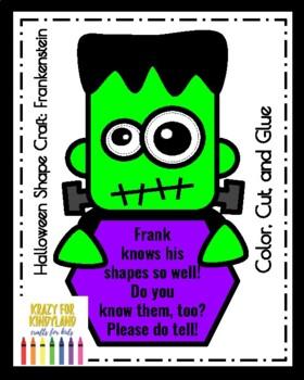 Frankenstein Shape Craft (Halloween, Fall, Autumn, Trick-or-Treat)