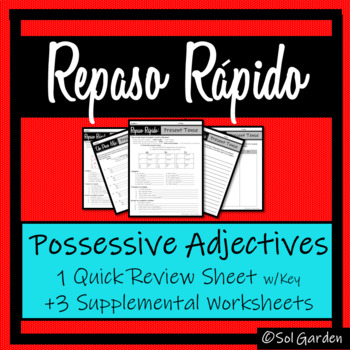 Spanish Possessive Adjectives Review - Repaso Rápido  -