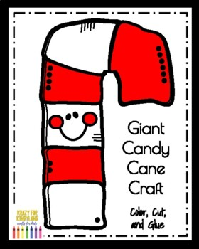 Giant Candy Cane Craft (Christmas)