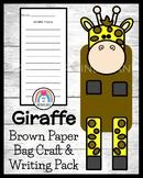 Giraffe Craft: Puppet (Zoo, Summer, Animal Research)