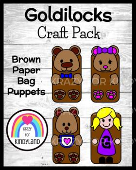 Goldilocks and the Three Bears:  Brown Paper Bag Puppets