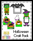 Halloween Craft Pack: Bat, Frankenstein, Witch, Ghost, Pumpkin Life Cycle