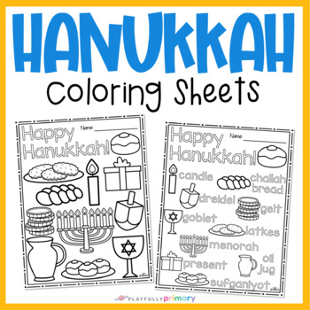 Hanukkah Coloring Sheets No Prep Coloring Pages By Playfully Primary