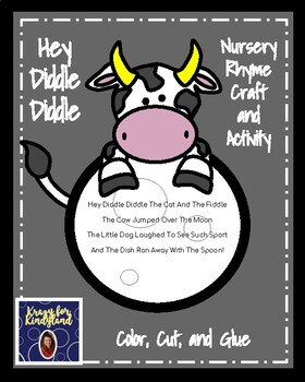 Hey Diddle Diddle Craft and Activity (Nursery Rhyme, Farm, Moon)