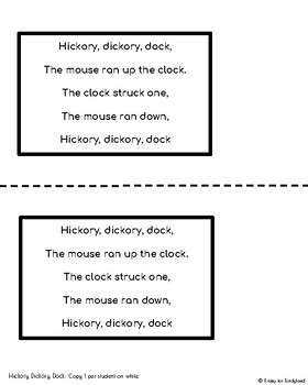 Hickory Dickory Dock Craft and Activity (Nursery Rhyme, Mouse)
