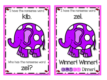 Winter I Have Who Has R.T.I. Game (Winter Elephant Theme)