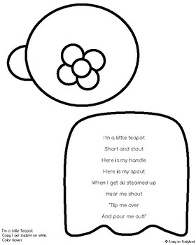 I'm a Little Teapot Craft and Activity (Nursery Rhyme)
