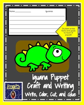 Iguana Puppet for Kindergarten (Zoo, Summer, Animal Research)