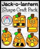 Jack-o-Lantern Shape Craft Math Activity Pack for Halloween, Fall, Pumpkin