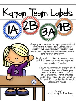 Kagan Desk Labels - Multi-color Polka Dot *Freebie*