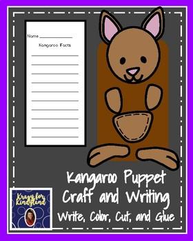 Kangaroo Craft: Puppet (Zoo, Summer, Animal Research)