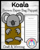 Koala Craft for Kindergarten: Puppet (Zoo, Summer, Animal Research)