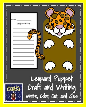 Leopard Puppet for Kindergarten (Zoo, Summer, Animal Research)