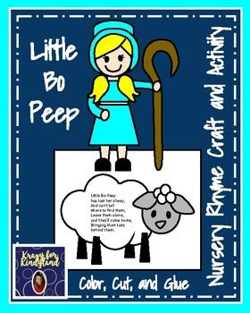 Little Bo Peep Craft and Activity (Nursery Rhyme, Farm)