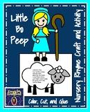 Little Bo Peep Craft and Activity (Nursery Rhyme, Farm, Fall, Spring)