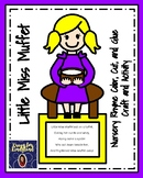 Little Miss Muffet Craft and Activity for Kindergarten (Nursery Rhyme, Spider)
