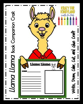Llama Llama Book Companion Craft Drawing And Writing By Krazy For