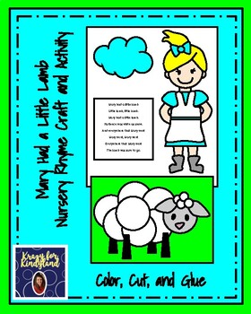 Mary Had a Little Lamb Craft and Activity (Nursery Rhyme, Farm)