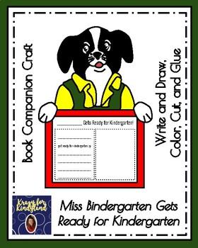 Miss Bindergarten Book Companion Craft (Back to School, First Day)