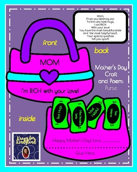 Mother's Day Craft: I'm Rich With Your Love Purse