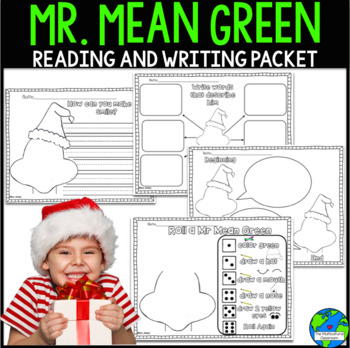 Mr. Mean Green Christmas Reading and Writing Packet