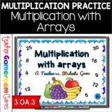 Multiplication with Arrays Teacher vs. Student Game  Distance Learning