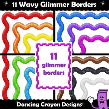Borders: Wavy Glimmer Frames Clip Art