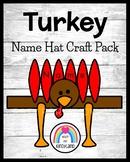 Name Turkey Craft for Kindergarten (Thanksgiving, Fall, Autumn)