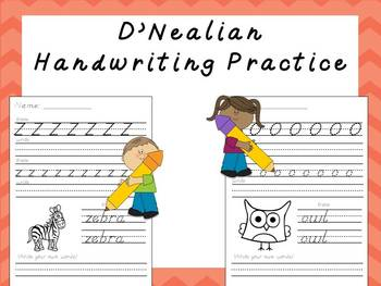D'Nealian Handwriting