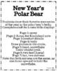 New Year Craft: Polar Bear - I had a BEARY good year! (Winter, January)