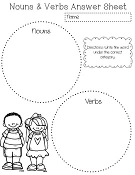 Noun & Verb Sort