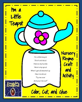 Nursery Rhyme Craft & Activity Pack: Bo Peep, Piggy, Teapot, Wheels on the Bus