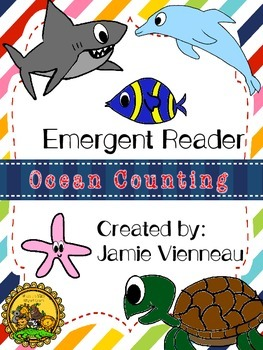 Ocean Count and Color Emergent Reader