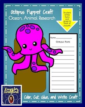Octopus Craft: Puppet (Ocean, Animal Research)