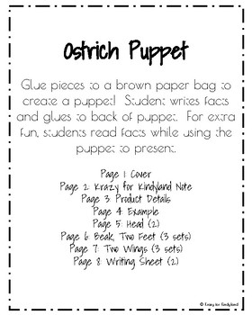 Ostrich Puppet (Zoo, Summer, Animal Research)