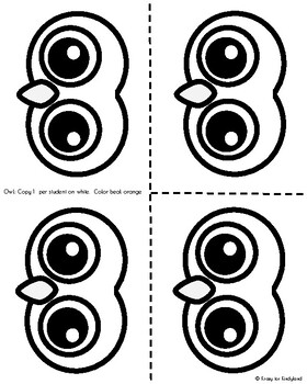 Owl Craft: Puppet (Fall, Autumn, Nocturnal Animals)