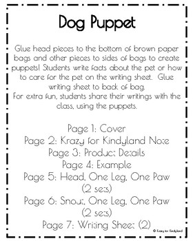 Pet Craft Pack: Brown Paper Bag Puppets