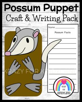 Possum Craft: Puppet (Zoo, Summer, Animal Research)