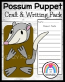 Possum Craft Activity, Writing Puppet: Zoo, Literacy, or Science Center