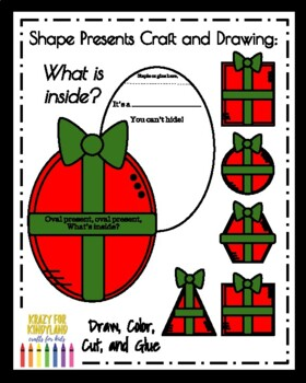 Present Shape Craft and Drawing (Christmas, Holidays)