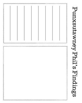 Punxsutawney Phil Craft and Writing for Kindergarten (Groundhog Day, February)