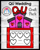 Q and U Wedding Craft with Church and Drawing Prompt: Literacy Center Activity
