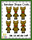 Reindeer Shape Craft for Kindergarten Math Activity at Christmas with Rudolph